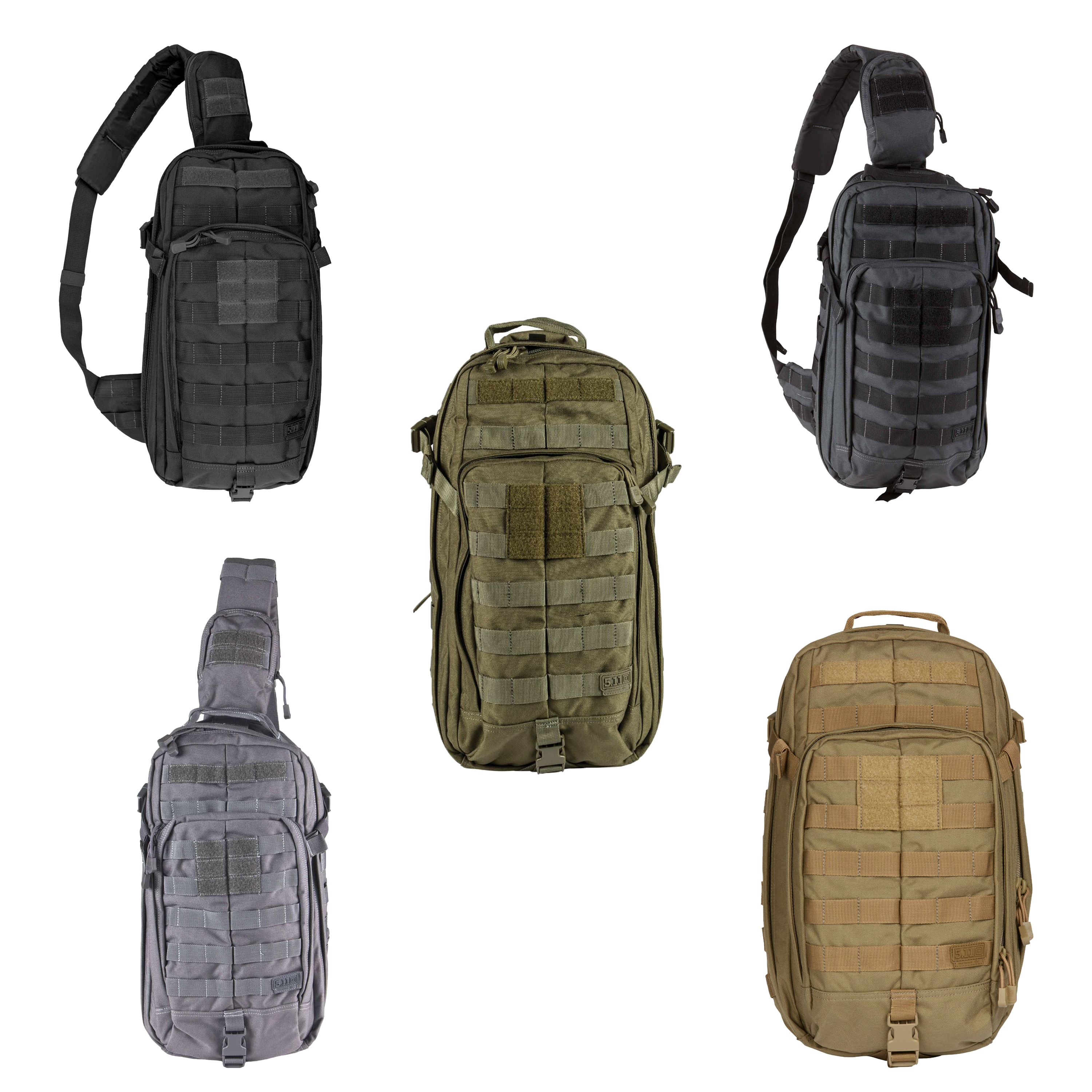 5 11 Rush Moab 10 Tactical Sling Pack Backpack 18 Liter Molle Style 56964
