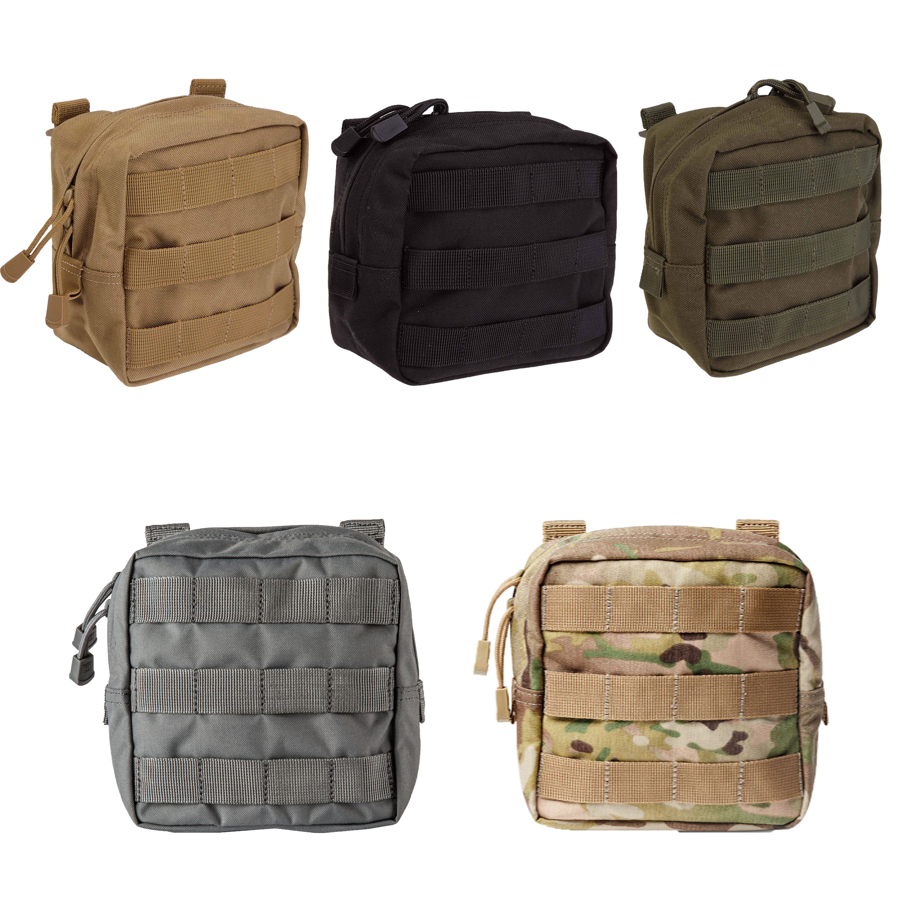 Details About 5 11 Tactical 6x6 Military Molle Lightweight Nylon Pouch Gear Bag Style 58713